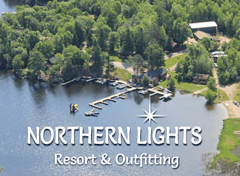 Northern Light Resort & Outfitting aerial image.