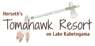 Tomahawk Resort logo.