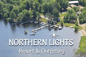 Northern Lights Resort & Outfitting banner.